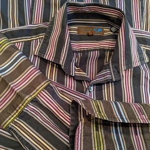 Ted Baker London Men's French Cuff Button Front